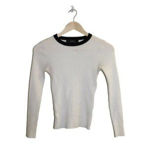 3/$45 -Forever 21 White Fitted Ribbed Knit Sweater